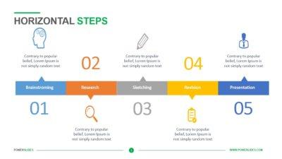 Horizontal Steps Template