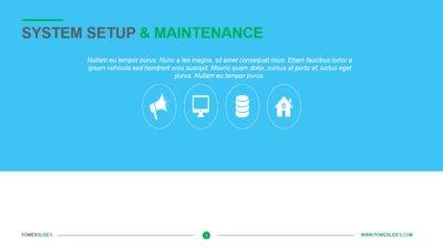 System Setup and Maintenance