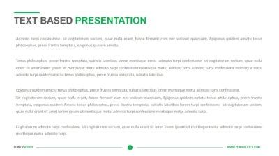 Text Based Presentation