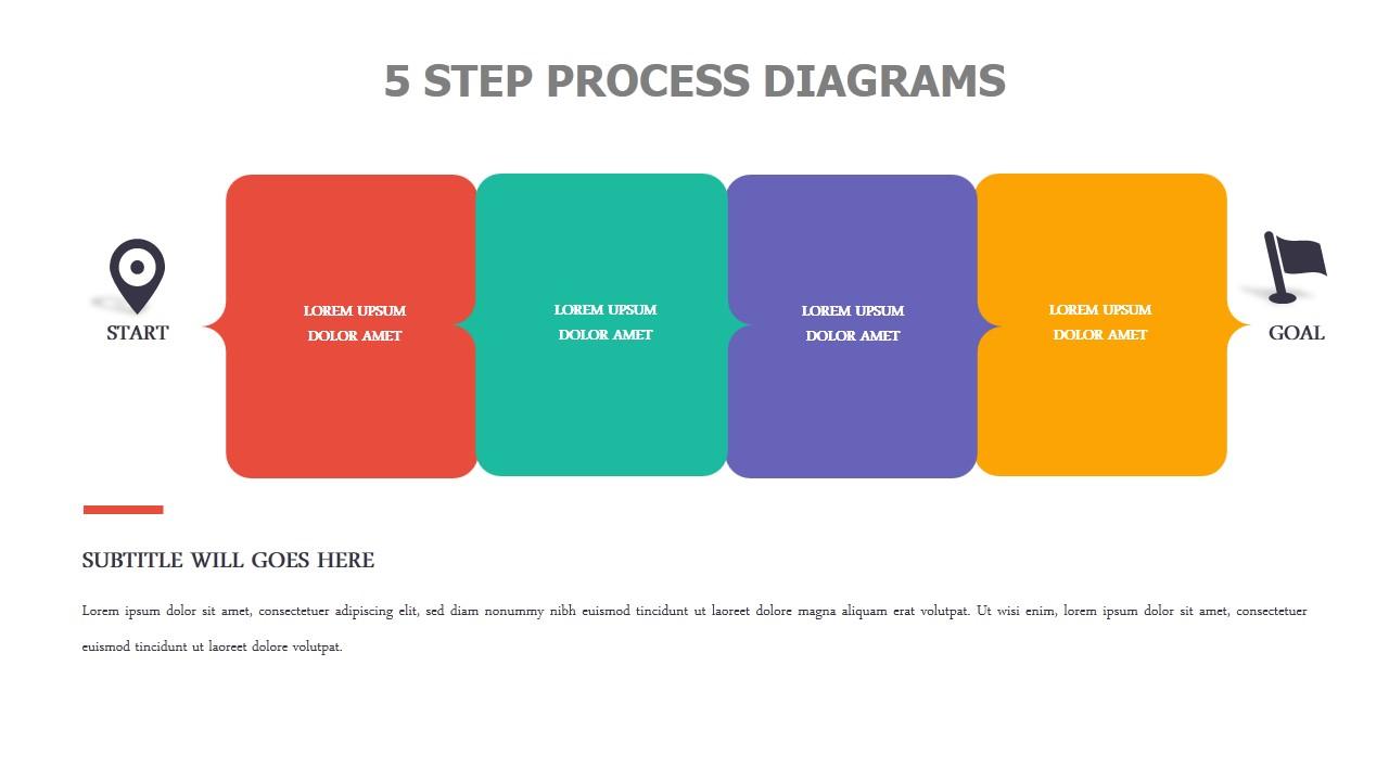 5 Step Process Diagrams