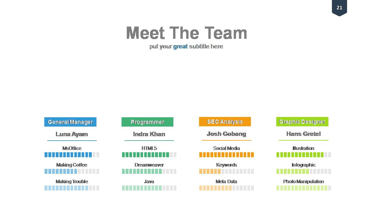 Team Introduction Templates
