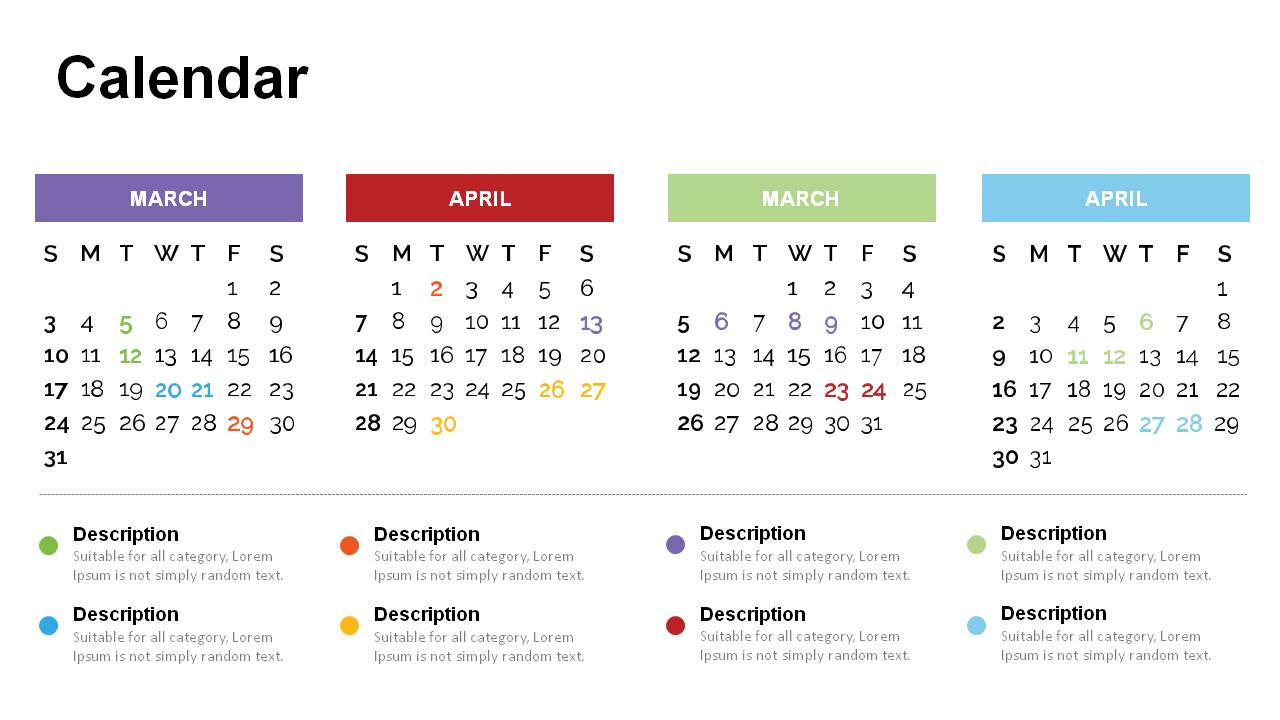 Calendar PowerPoint Templates