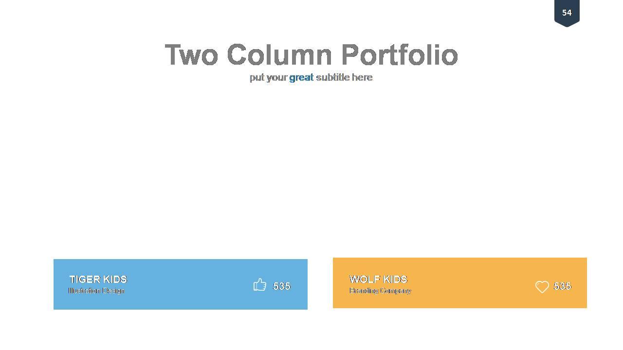 Columnar Portfolio Templates
