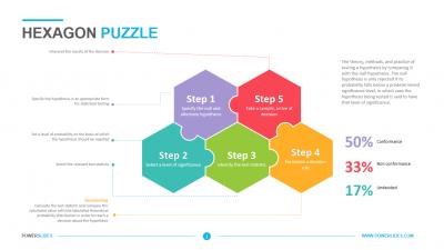 Hexagon Puzzle Template