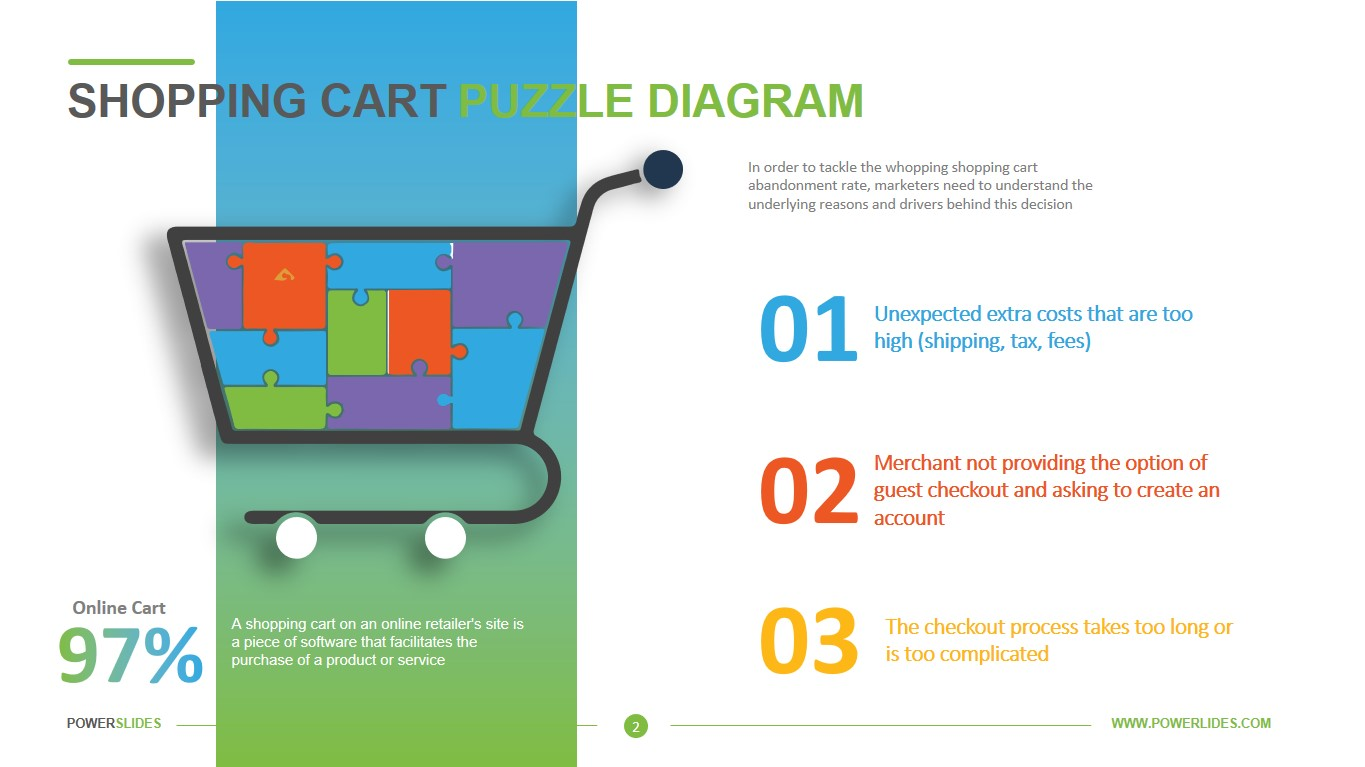 Shopping Cart Icon Puzzle
