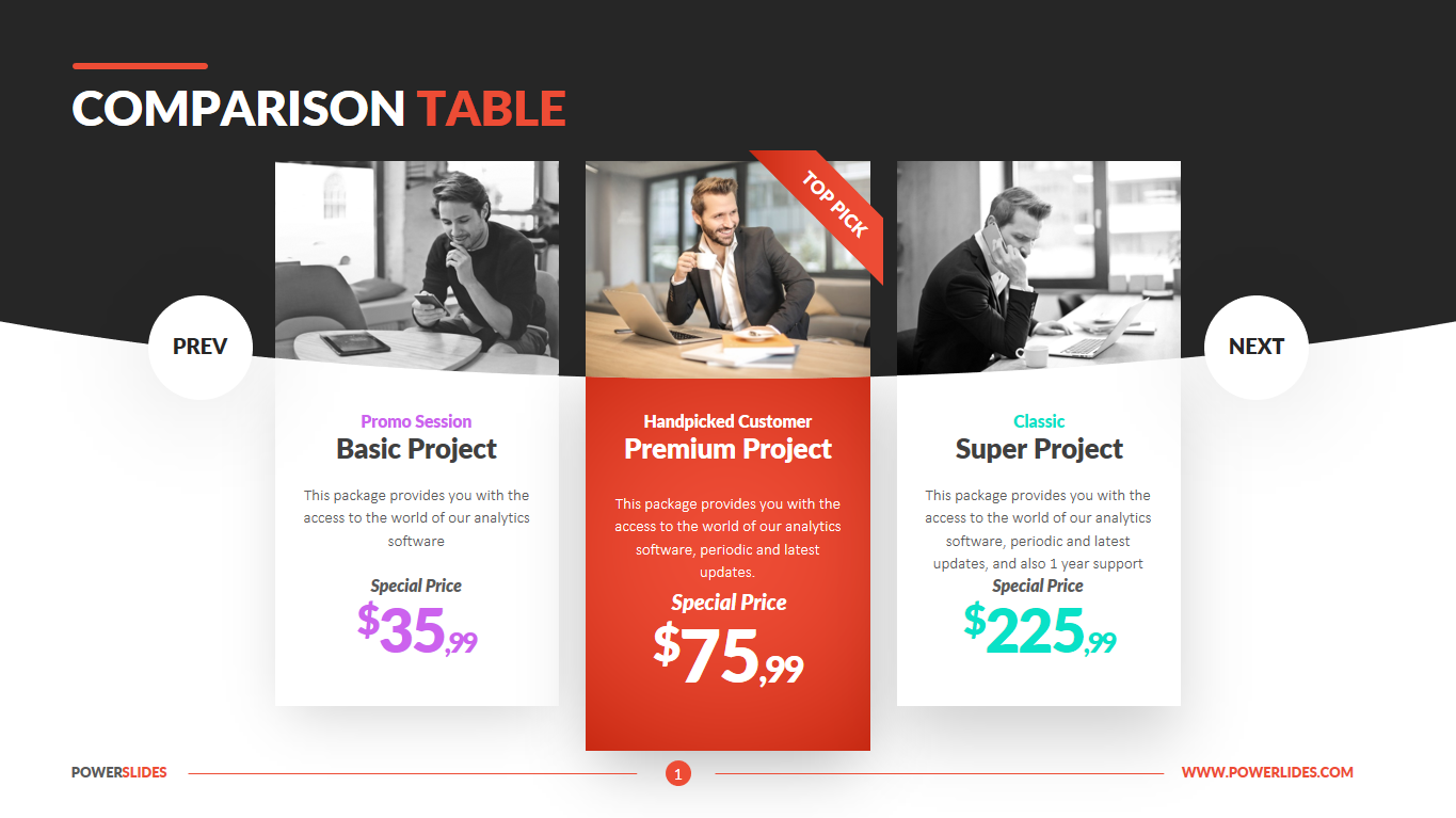 Comparison Table Template