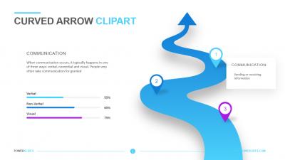 Curved Arrow Clipart