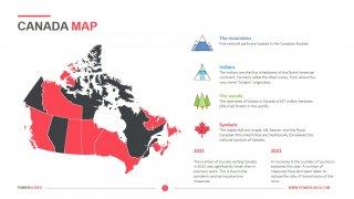 Canada Map Template