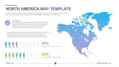 North America Map Template