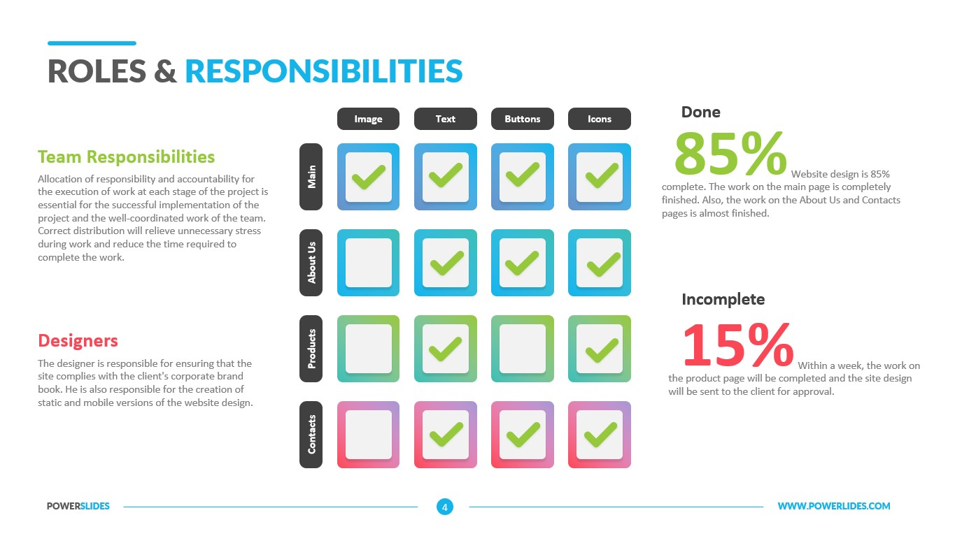 Roles & Responsibilities Template   Download & Edit   PowerSlides™