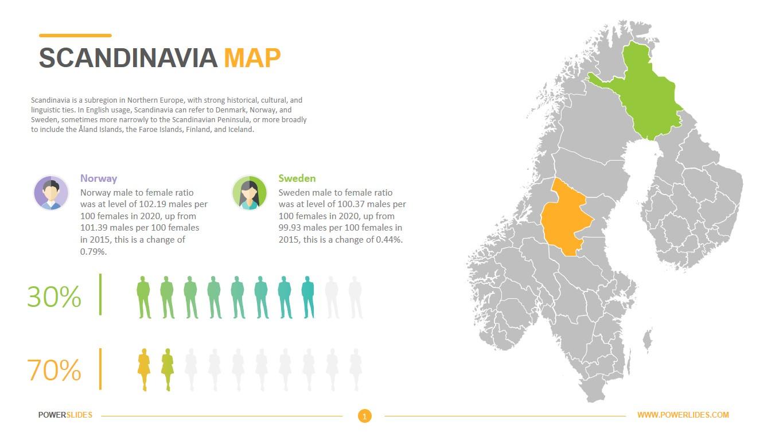 Scandinavia Map Template