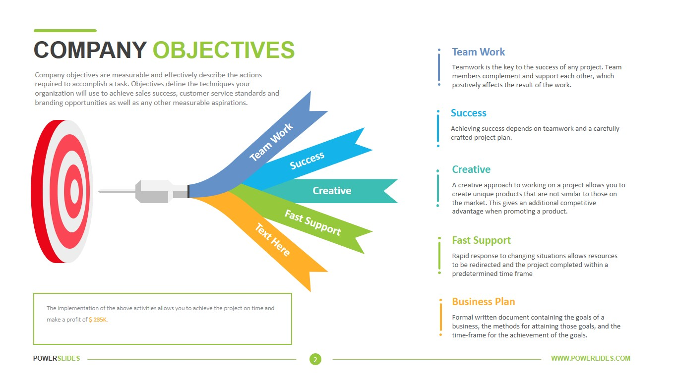 Company Objectives Template
