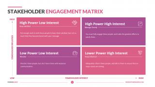 Stakeholder Engagement Matrix
