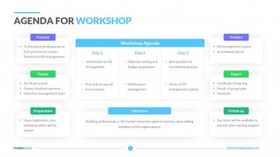 Agenda for Workshop