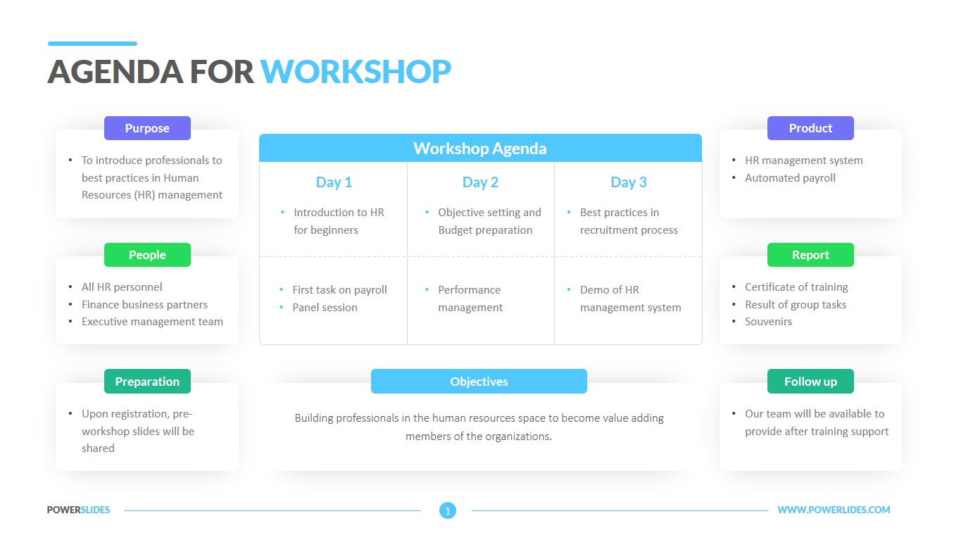 Agenda For Workshop Template 7 000 Slides Powerslides