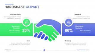 Handshake Clipart Template