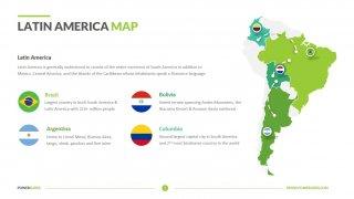 Latin America Map Template