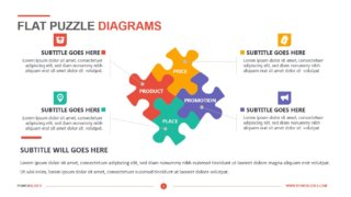 Flat Puzzle Diagrams