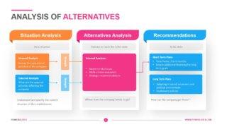 Analysis of Alternatives